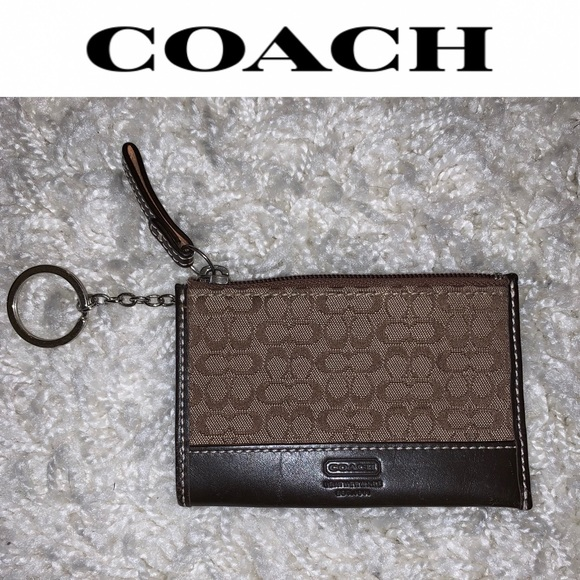 Coach Handbags - EUC {COACH} Mini Logo Skinny ID Card Case